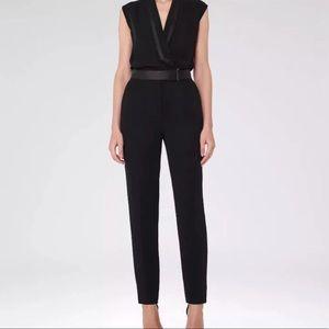 Reiss black tuxedo jumpsuit NWOT